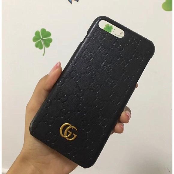 timeless design e3240 5711f GUCCI BLACK IPHONE 7/8 PLUS CASE